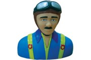 World Models Pilot Statue GR bleu 102mm